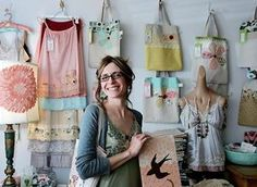Tif Fussell opened her online store, dottie angel, in February to sell her handcrafted slips, bags and cushions