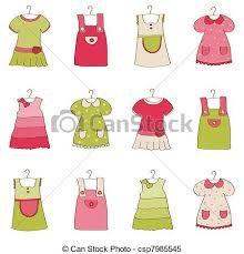 Αποτέλεσμα εικόνας για dress pattern sketches for babies