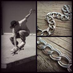 Mens chain bracelet  Mens Jewelry  Chunky unisex by EarthChildArt, $17.00