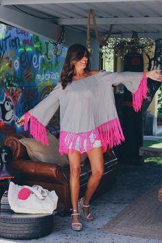 boho&vintage - mytenida #jewelryvintageboho Ibiza Dress, Boho Dress, Beachwear Fashion, Boho Fashion, Fashion Design, Cool Outfits, Summer Outfits, Boho Beautiful, Short Frocks
