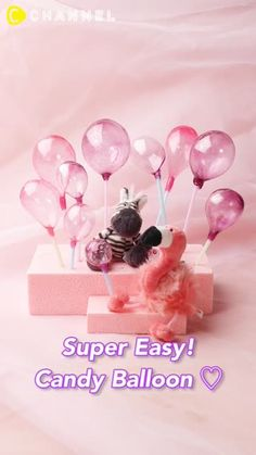 Just heat and inflate!Super cute and easy candy balloon! Cake Decorating Designs, Cake Decorating For Beginners, Cake Decorating Techniques, Cake Decorating Tutorials, Cake Designs, Cake Icing, Cupcake Cakes, Cupcakes, Gelatin Bubbles