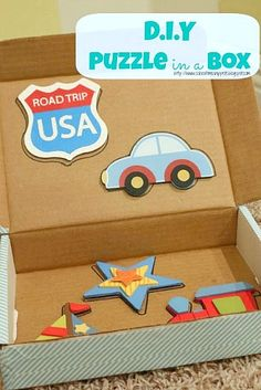 School Time Snippets: DIY Puzzle in a Box {Fine Motor Friday} - Great idea to use stray puzzle pieces Early Learning Activities, Motor Skills Activities, Fine Motor Skills, Toddler Fun, Toddler Preschool, Preschool Activities, Toddler Class, Preschool Learning, Kids Fun