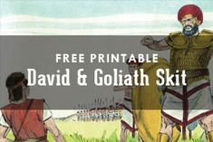 Free Printable: David and Goliath Lesson Skit David And Goliath Craft, Vbs Themes, Theme Ideas, Skits For Kids, David Bible, Bible Songs, Kids Class, Free Bible, Vacation Bible School
