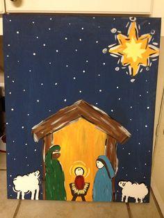 Nativity Canvas Painting