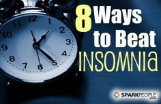 8 Ways to Beat Insomnia Slideshow via @SparkPeople