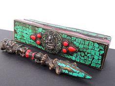 Buddhist Ritual Dorjee Phurba Dagger, with ornate Box