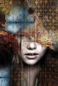 Decoupage On Canvas, Black And White Art Drawing, Tableau Pop Art, Images D'art, L'art Du Portrait, Abstract Face Art, Art Techniques, Painting Inspiration, Female Art