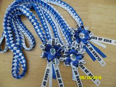 Graduation leis, all ribbons from Michael's