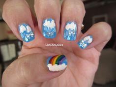 Rain + Bow = Rainbow: Cha Cha Cakes Nails: Day 9 in the 31 Day Nail Art Challenge