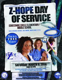 Z-HOPE Day will take place on March 8th at Edgecomb Elem School from 11 until 2. This is a FREE Event! Hope to see you there.