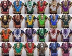 Dashiki Shirt African Unisex Hippie Blouse Top Mens Women Vintage Cloth One Size African Dashiki Shirt, African Shirts, African Men, African Dress, Vintage Tops, Vintage Ladies, Americana Vintage, Hippie Vintage, V Dress