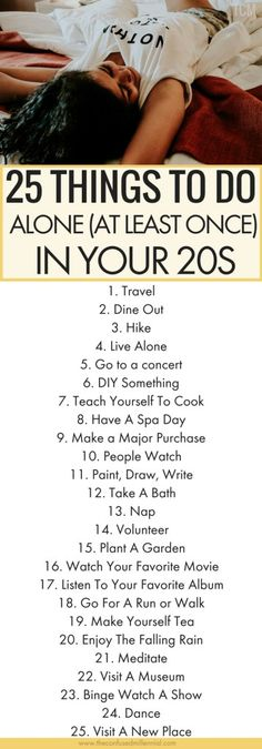things to do alone in 20s, #selfcare, list of ideas for things to do alone when bored #thingstodo