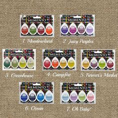 Scrapbook Ink Pad for Wedding Tree Guest Book or Alternative Guest Book Thumbprint / Fingerprint-  Momento Dew Drop 4-pack Ink Campfire Set