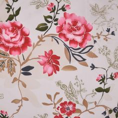Italian Multicolor Floral Cotton-Lycra Woven Fabric by the Yard | Mood Fabrics