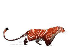 """""""White Stripes Tiger"""" by Lorène Barioz* •"""