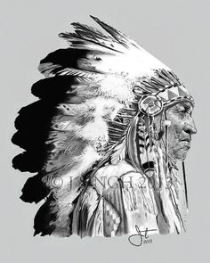 These portrait drawings are by Jatinder Singh, he is a graphic design student based in Mississauga, Ontario, Canada, His creative area of interest is portrait drawing and painting as well as digital design. Native American Drawing, Native American Tattoos, Native Tattoos, Native American Warrior, Native American Images, Native American Artwork, American Indian Art, American History, Indian Chief Tattoo