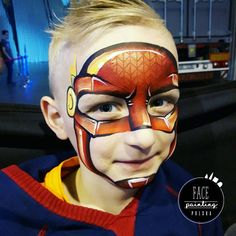 "61 Likes, 7 Comments - Face painting tutorials (@facepaintingpolska) on Instagram: ""❤Little one stroke FLASH ❤ I used red from @wolfefaceartfx #wolfefx and my new stencil from…"""