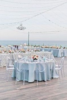 Outdoor blue Wedding reception decor under string lights - Photography: JBJ Pictures | Colorful Cabo Destination Wedding - Belle The Magazine Blue Wedding Receptions, Wedding Reception Decorations, Wedding Centerpieces, Wedding Ideas, Wedding Color Schemes, Colour Schemes, Wedding Colors, Event Photography, Light Photography