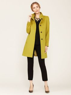 Wool Pipe Neck Coat by Cinzia Rocca on Gilt.com
