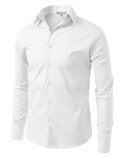 LE3NO Mens Comfortable Slim Fit Tailored Button Down Shirt at Amazon Men's Clothing store