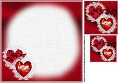 8x8 Love Hearts And Swans Insert Plate