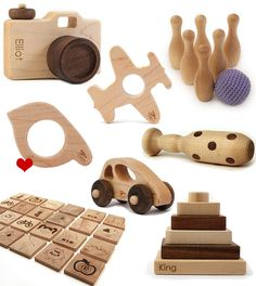 Gorgeous eco-friendly wooden toys for kids & babies. (Top Design For Kids) Woodworking For Kids, Woodworking Lathe, Paper Party Decorations, Eco Baby, Eco Friendly Toys, Diy Candle Holders, Diy Gifts For Friends, Sustainable Gifts, Pallet Crafts