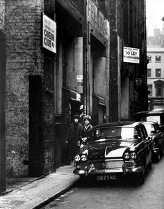 In a Liverpool back street - the home of the Cavern Club in Matthew Street, Dec.1963