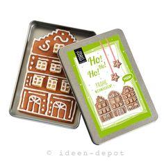 Handgemachter Lebkuchen Winterhaus (Vegan) von ideen-depot auf DaWanda.com