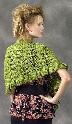 Chal tejido a crochet : cositasconmesh