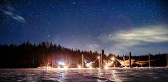 Camping on the frozen lake under the stars (Lappeenranta & Imatra region) Picture by: goSaimaa.com/Mikko Nikkinen