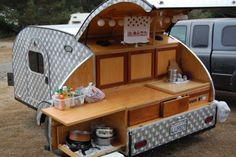 Travels with a teardrop, other tiny trailers, Part II Kombi Trailer, Small Camper Trailers, Kombi Motorhome, Diy Camper Trailer, Tiny Camper, Camping Trailers, Teardrop Trailer Plans, Teardrop Caravan, Airstream