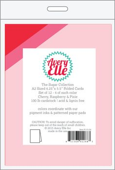 #AveryElle #CHA #scrapbook - A2 Top Folding Note Cards