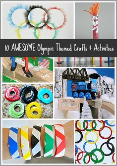 Looking for fun crafts for kids inspired by the Olympics? Check out these 10 awesome Olympic themed crafts and activities for kids! Are you following us on Facebook?   Watching the Olympic Gameswith the kids has been such a fun activity to do together as a family. To build on the kids' Olympic excitement, I've been looking for funOlympic themed activities and crafts to do with them. Luckily I haven't had to look far because last week's Olympic themed Discover & Explore was full of all…