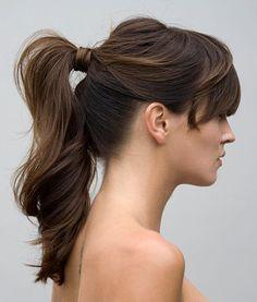 Coleta alta adornada con el propio pelo, perfecta para muchas ocasiones! Elegant ponytail, perfecto for many occasions! -HAIR