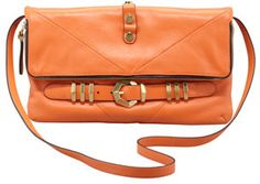 Orange Leather Crossbody Bag by Oryany. Buy for $222 from Neiman Marcus