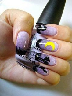 Great nail art for Halloween!