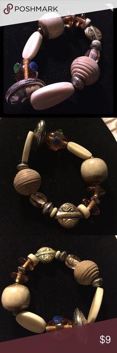 Selling this Stretch bangle bracelet brown tan o/s on Poshmark! My username is: kathyskashkrop. #shopmycloset #poshmark #fashion #shopping #style #forsale #Jewelry