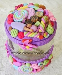Lange Barreto - Scrap: Potes decorados com Biscuit                              …
