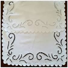 Image result for Pair of Elaborate Cutwork and Embroidered Doilies - Google Search