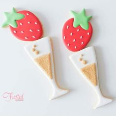 Strawberries and Champagne cookies ...