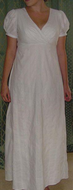 Regency dresses-gotta love them Regency Dress, Regency Era, 1800s Fashion, New Fashion, Fashion Styles, Fashion Dresses, Vintage Shoes, Vintage Outfits, Vintage Clothing
