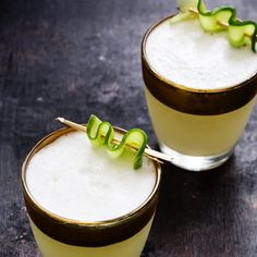 This Cucumber Gin Fizz is a delightful, herbaceous cocktail worthy of your Friday night.