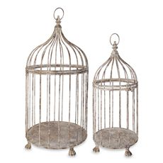 Aged Metal Bird Cages (Set of 2) - Bed Bath & Beyond