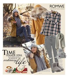 """Romwe 2/VII"" by merima-p ❤ liked on Polyvore featuring ASOS, Topshop, UGG Australia and Mantaray"