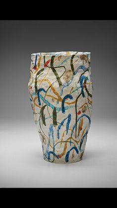 Splash, brush stroke form. Cup. Cylinder. Stephen Benwell.