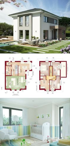 Elegante Stadtvilla mit Walmdach - Haus Edition 4 V6 Bien Zenker Fertighaus - HausbauDirekt.de