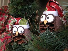 Christmas Owls ~~ Love this idea
