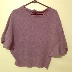 Grey boxy sweater Short sleeved shirt boxy sweater, worn twice Li peng Sweaters Crew & Scoop Necks
