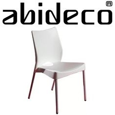 silla plástica diseño apilable malba pata metálica pintada