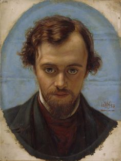 Portrait of Dante Gabriel Rossetti by William Holman Hunt, 1853. Both were original members of The Artists Rifles.